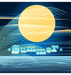 summer night vector image vector image