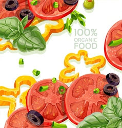 Vegetarian background organic natural food fr vector image vector image