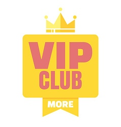 VIP club logo in flat style members only banner vector image vector image