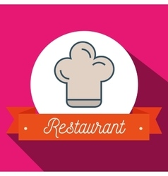 Chef restaurant has an icon vector