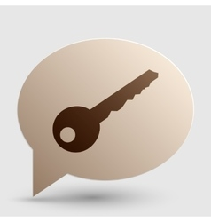 Key sign  brown gradient icon on vector