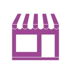 Silhouette with purple small supermarket vector