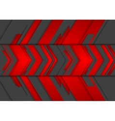 Red and black abstract tech arrows background vector image