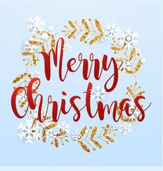 Christmas greeting card realistic volumetric vector