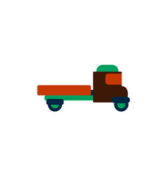Retro car in flat style old vector