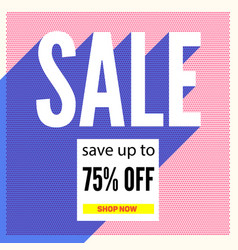 Halftone sale poster on backdrop from color dots vector