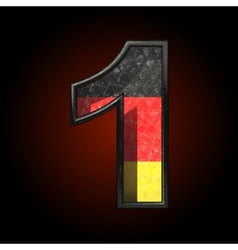 Germany cutted figure 1 vector