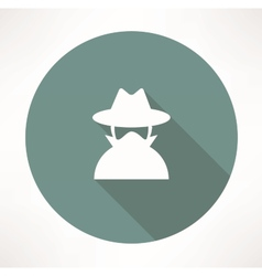 Spy agent icon vector