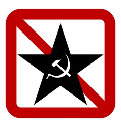 No communism sign vector