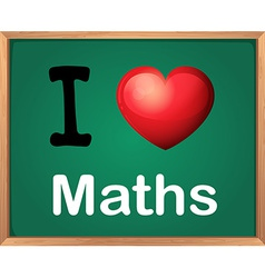 I love math vector