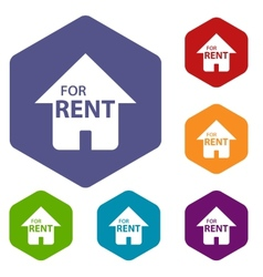 For rent rhombus icons vector