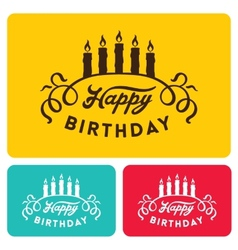 Happy birthday card templates vector