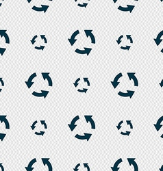 Refresh icon sign seamless pattern with geometric vector