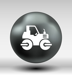 Rammer major construction rink asphalt icon button vector