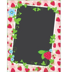 strawberry frame and background vector image