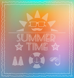 Summer time card banner vector
