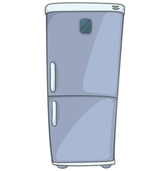 cartoon home kitchen refrigerator vector image