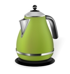 Green electric kettle vector