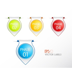 Set of phase badges with numbering vector