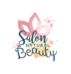 Beauty salon logo label for hair or beauty studio vector