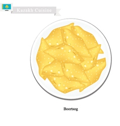 Boortsog or kazakh deep fried butter cookies vector