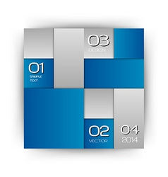 business squares blue white with text vector image