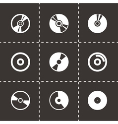cd icon set vector image vector image