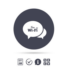 Chat speech bubbles free wifi sign vector