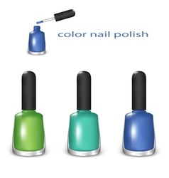Color nail polish vector
