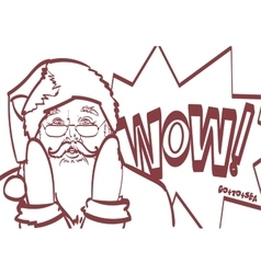 cool Santa Claus in pop art style for any vector image