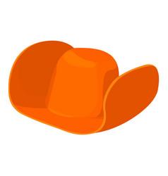 Cowboy hat icon cartoon style vector