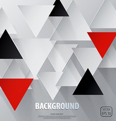 Cut triangle paper background vector