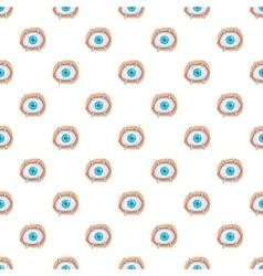 Eye treatment pattern cartoon style vector
