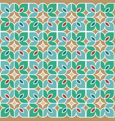 Floral moroccan mosaic pattern vector