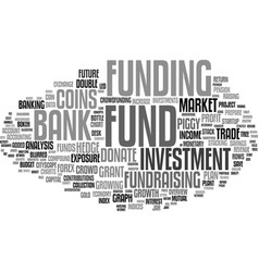 Fund word cloud concept vector