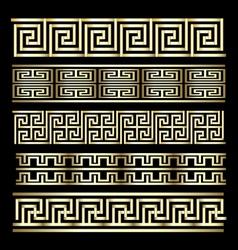 Gold Meander Design vector image vector image