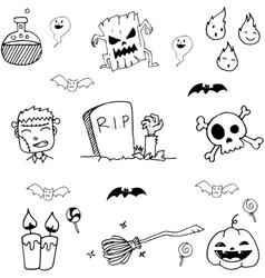 Halloween element doodle vector