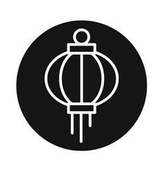 Japanese lantern icon isolated on white background vector