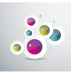 Modern circle background vector