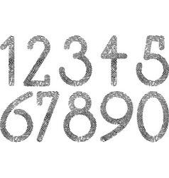 numbers fingerprint vector image vector image