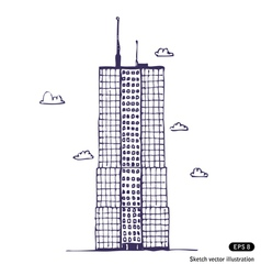 Office building vector image