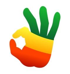 Okay human hand gesture sign vector image