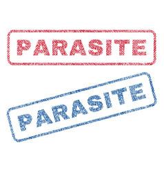 Parasite textile stamps vector