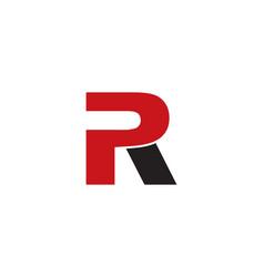 Pr letter logo vector