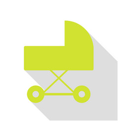 Pram sign pear icon with flat style vector