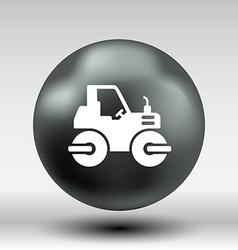 Rammer major construction rink asphalt icon button vector