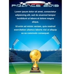 Soccer Cup Background Ready for Your Text vector image vector image