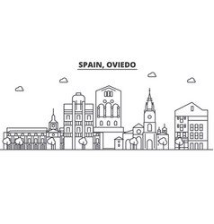 Spain oviedo architecture line skyline vector