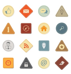 Web icons retro style vector image vector image