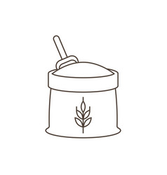 wheat flour icon outline design vector image